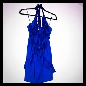 Ruffled babydoll halter dress